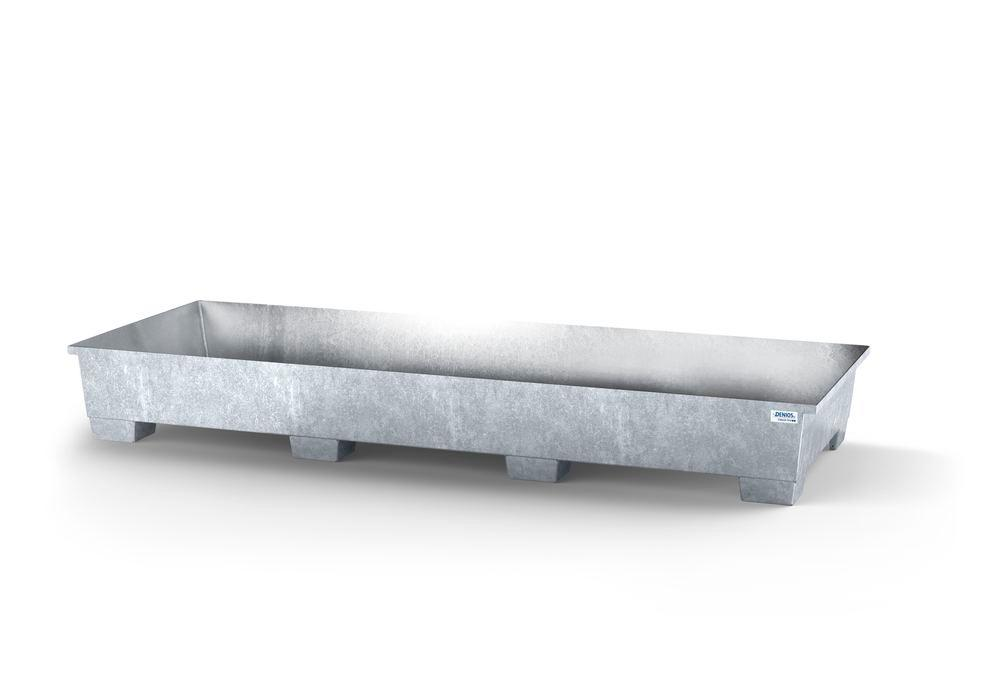 Sump pallet classic-line, galvanized steel, for use with 3300 mm width shelves