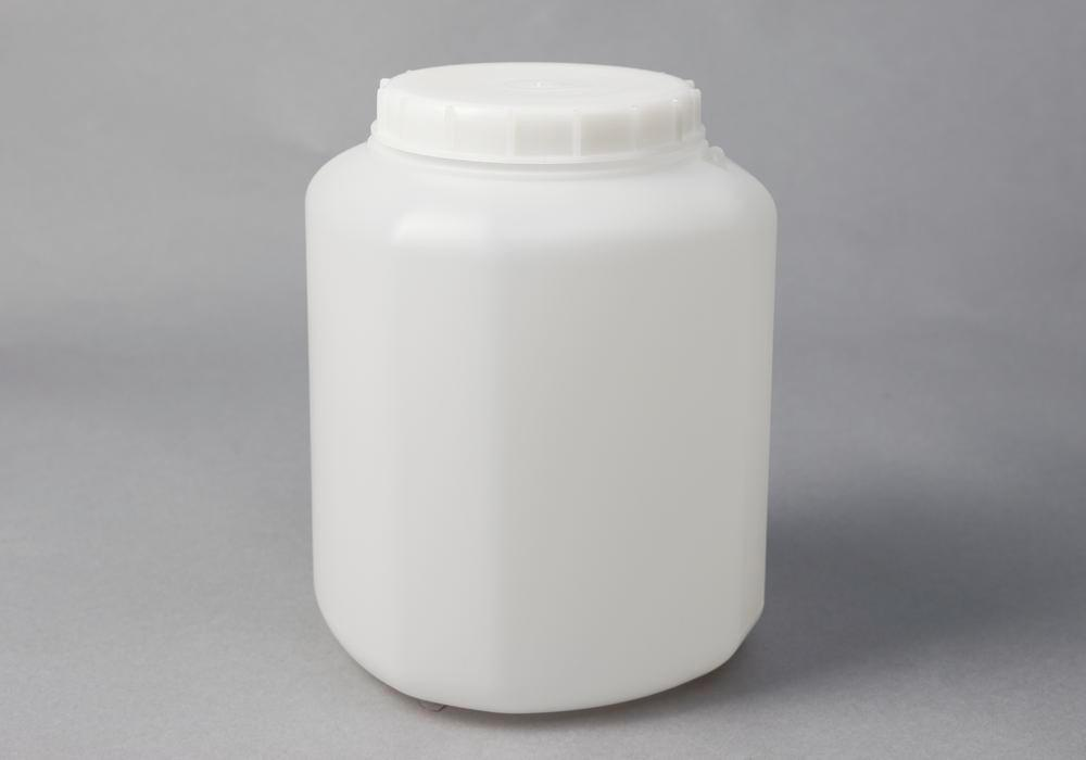 Wide neck container in HDPE, natural-transparent, 5 litre, 2 pieces