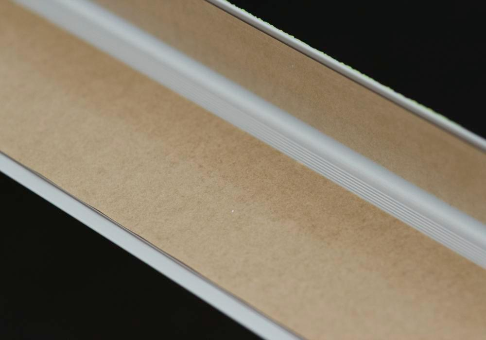 Anti-slip edge profile, aluminium m2, Easy Clean, grey, W 610 mm, thickness 4 mm