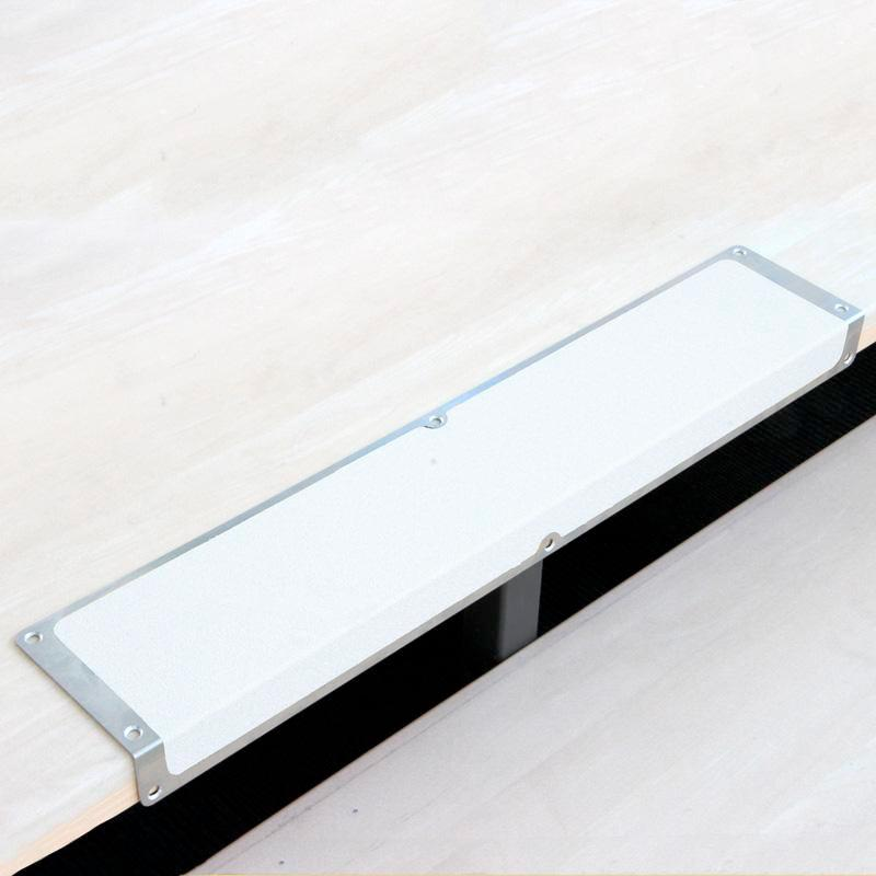 Anti-slip edge profile, aluminium m2, Easy Clean, white, W 635 mm - 1