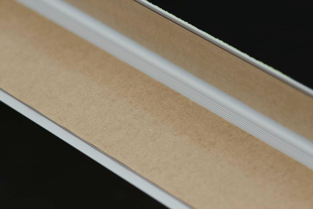 Anti-slip edge profile, Easy Clean, luminescent black/yellow, W 1000 mm, adhesive