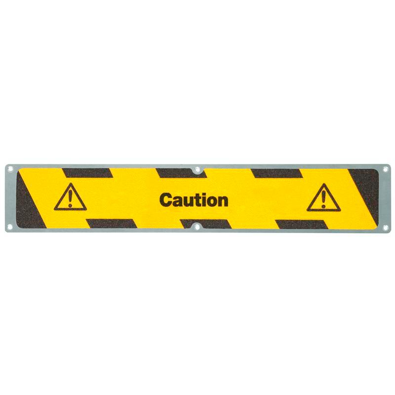"Anti-slip sheet, aluminium m2, ""Caution"", 635 x 114 mm"