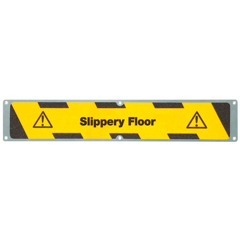 "Anti-slip sheet, aluminium m2, ""Slippery Floor"", 635 x 114 mm"