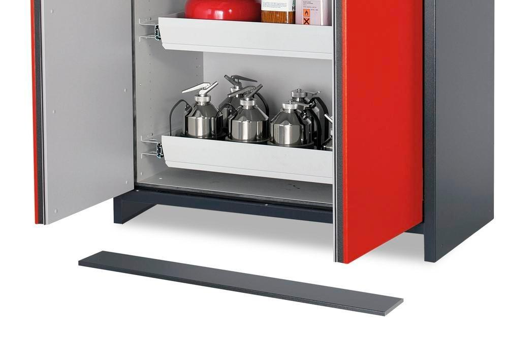 asecos base panel for 60 hazmat cabinet (closes the accessible base) - 1