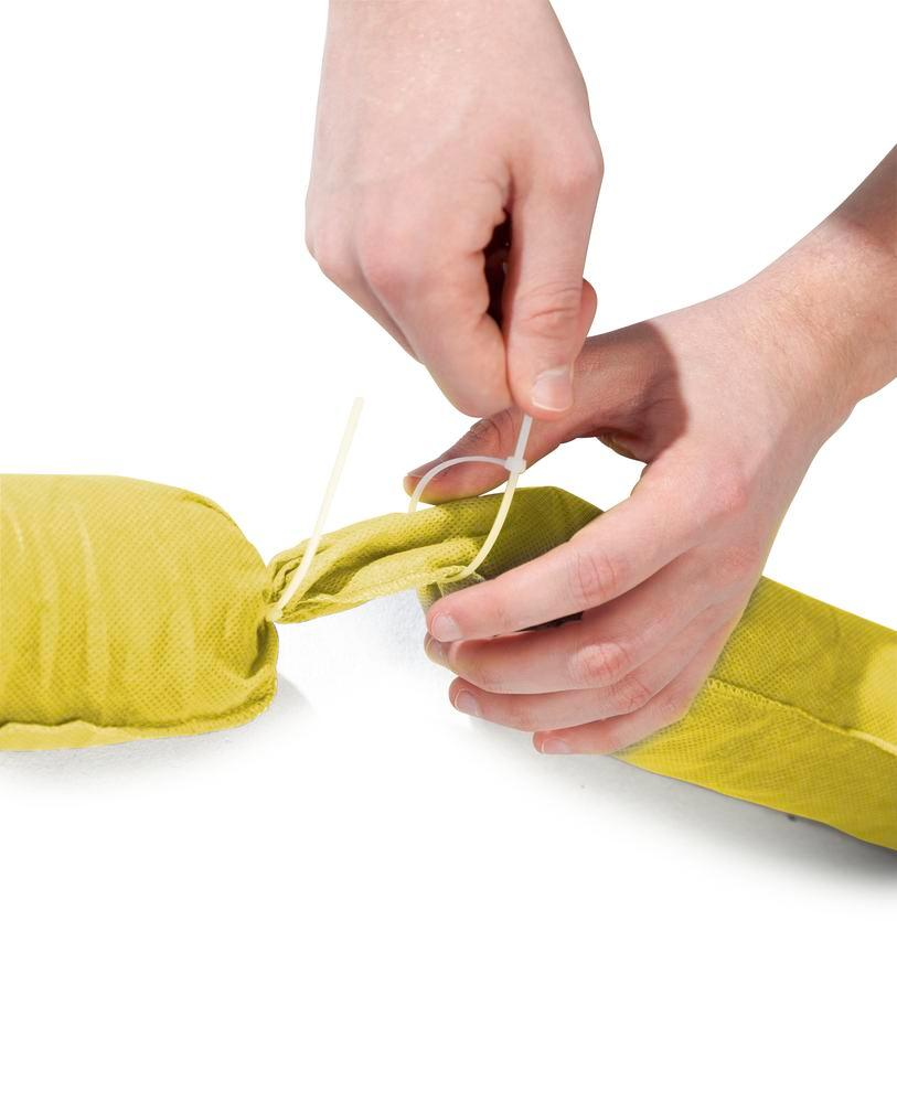 DENSORB Chemical absorbent materials, absorbent sock for cutting to length, length 20 m, 1 pc