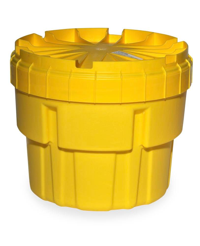 Drum overpack in polyethylene (PE), with UN approval and screw lid, 76 litre volume