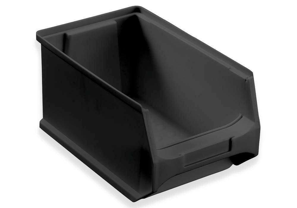 ESD open-fronted storage bins pro-line B3, PP, 145 x 235 x 125 mm, black, Pack = 24 pcs - 1