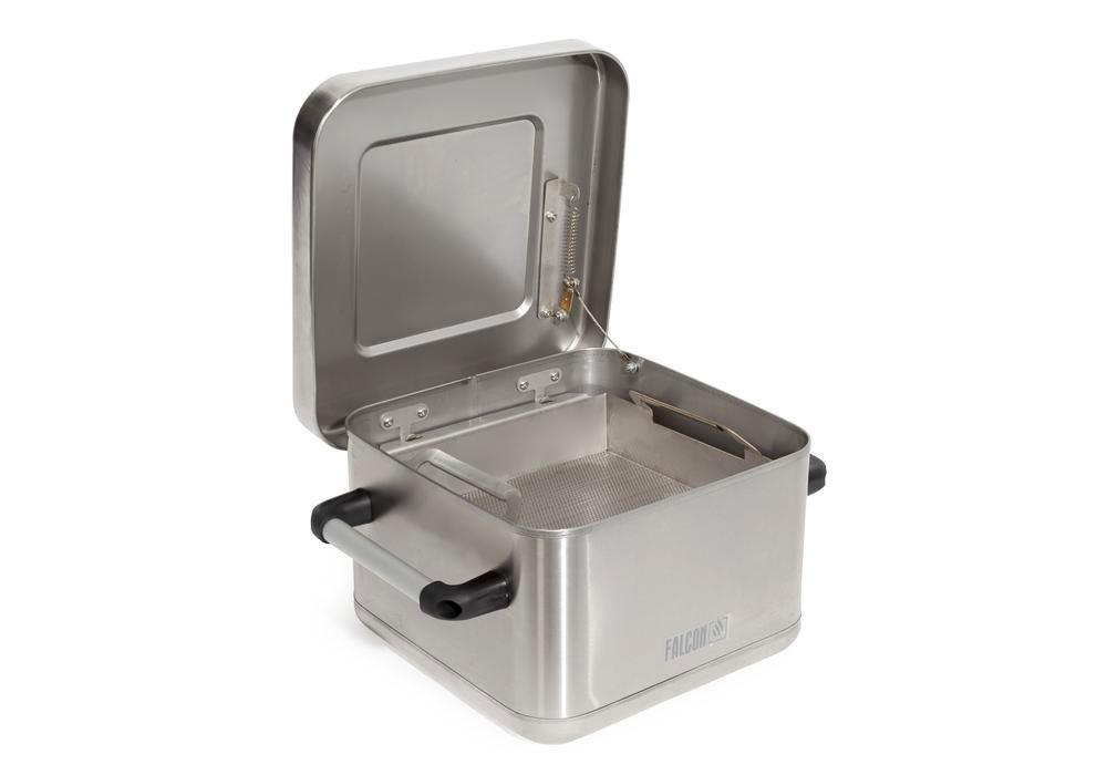FALCON immersion containers for small parts cleaning, stainless steel, 10 litre volume