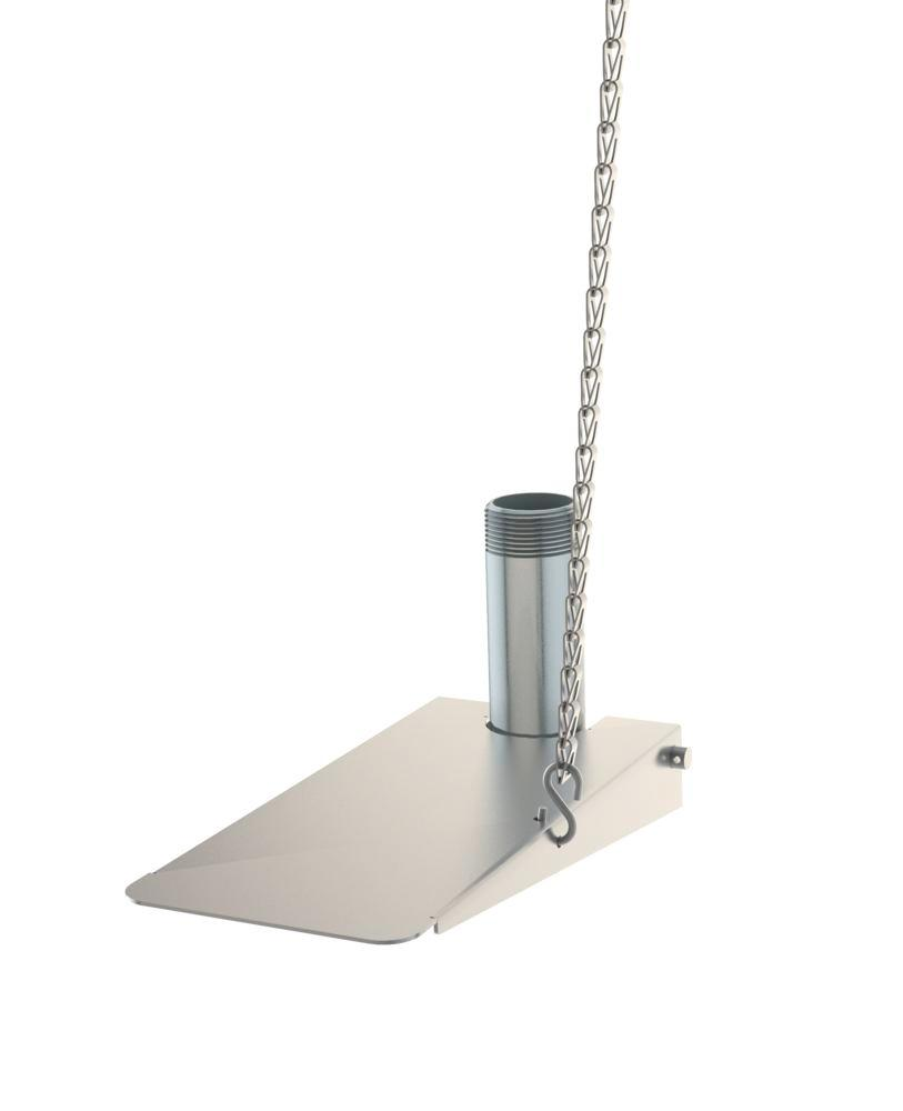 Foot pedal for emergency shower, stainless steel, Type G 1991