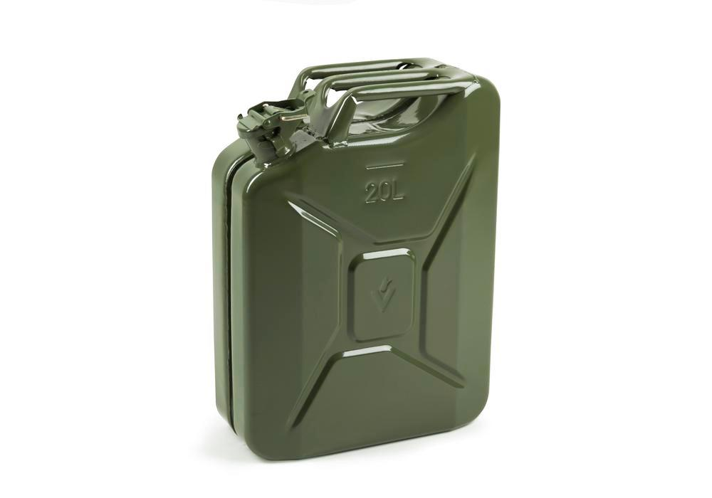 Fuel canister in steel Explo-Safe, 20 litre volume, with UN approval