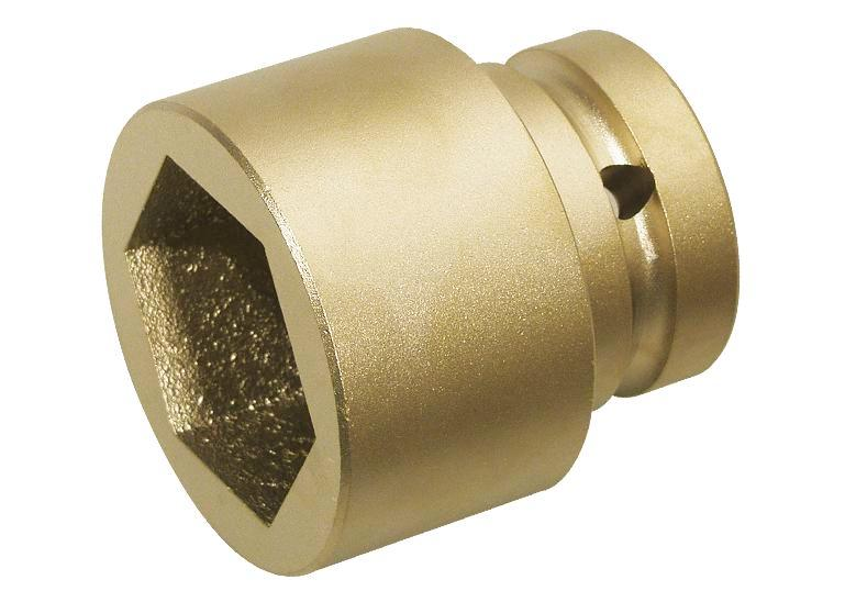 """Hex wrench socket for impact wrenches, 1"""" x 65 mm, special bronze, spark-free, Ex"""