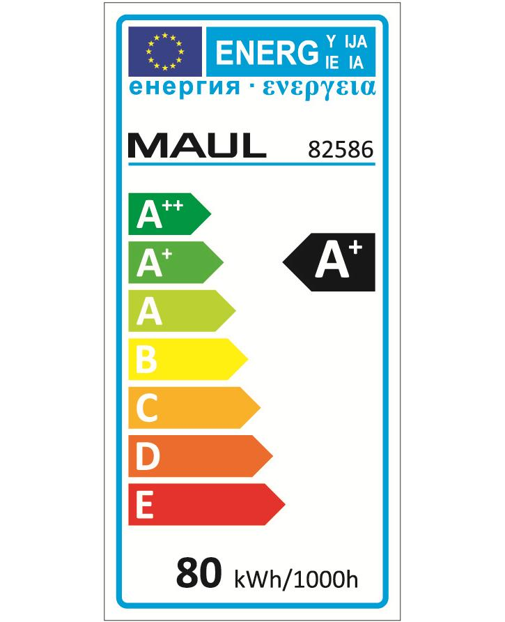 LED standard lamp, MAULJuvis, dimmable, height 1950 mm, with base - 4