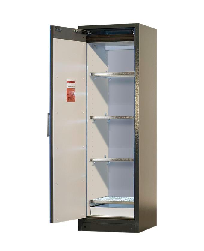 Lithium-ion battery storage cabinet SafeStore, 4 grids, W 600 mm