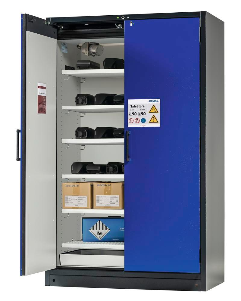 Lithium-ion battery storage cabinet SafeStore-Pro, 6 grids, W 1200 mm