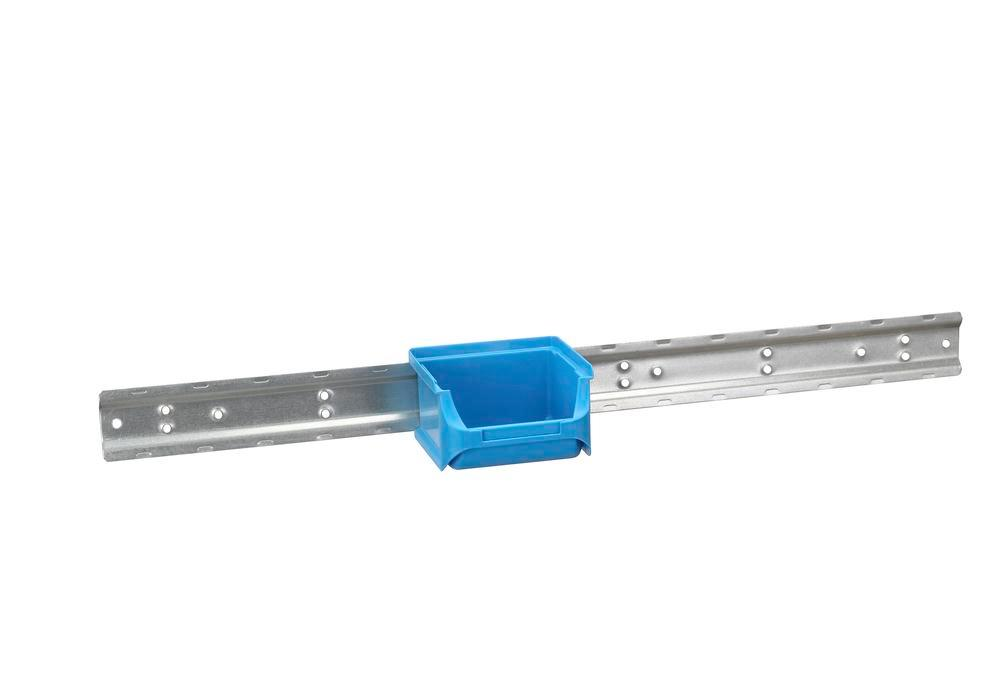 Metal wall mounting rails for open-fronted storage bins pro-line A1-3, Pack = 10 pc. - 2