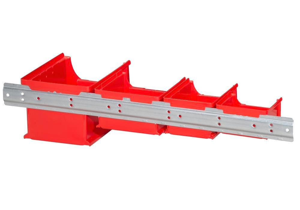 Metal wall mounting rails for open-fronted storage bins pro-line A1-3, Pack = 10 pc. - 3