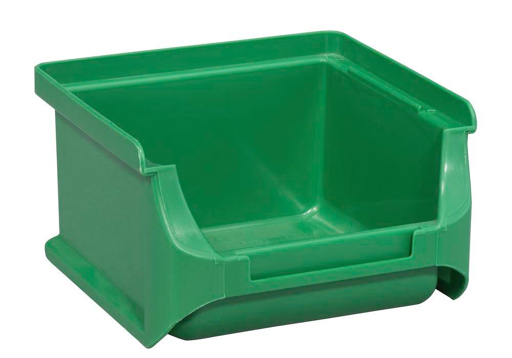 Open-fronted storage bins pro-line A1, PP, 100 x 100 x 60 mm, green, Pack = 30 pcs.