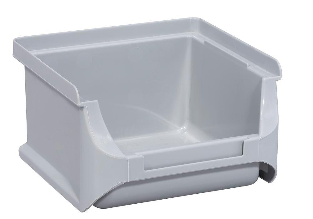 Open-fronted storage bins pro-line A1, PP, 100 x 100 x 60 mm, grey, Pack = 30 pcs.