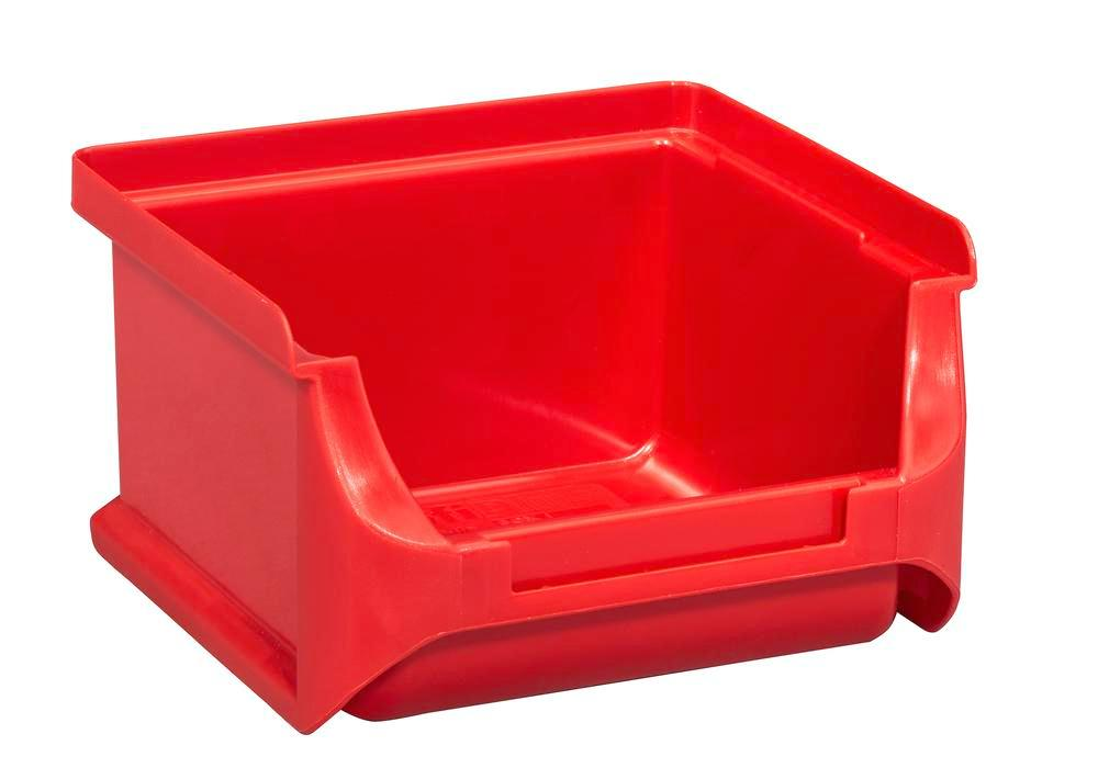 Open-fronted storage bins pro-line A1, PP, 100 x 100 x 60 mm, red, Pack = 30 pcs.