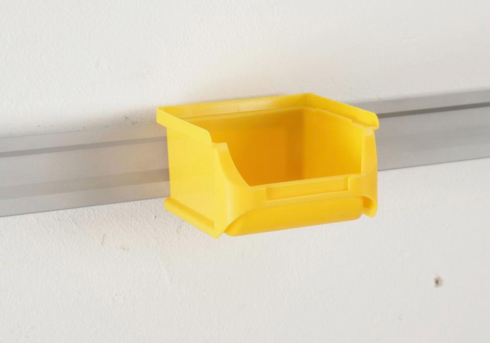 Open-fronted storage bins pro-line A1, PP, 100 x 100 x 60 mm, yellow, Pack = 30 pcs. - 2