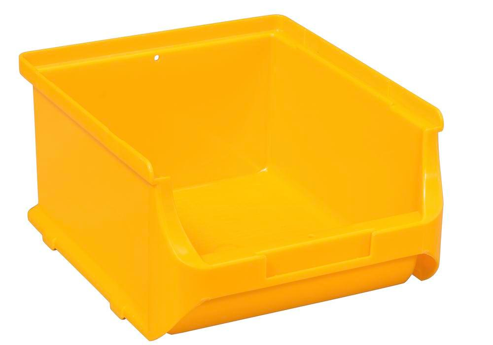 Open-fronted storage bins pro-line A2-B, PP, 135 x 160 x 82 mm, yellow, Pack = 20 pcs.