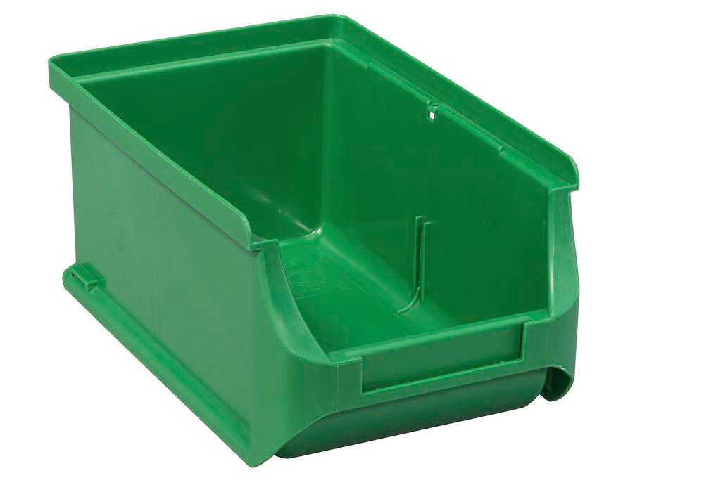 Open-fronted storage bins pro-line A2, PP, 100 x 160 x 75 mm, green, Pack = 24 pcs.