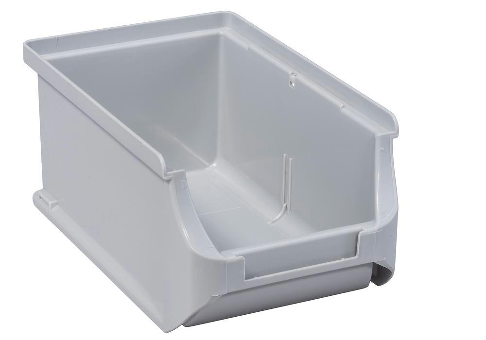 Open-fronted storage bins pro-line A2, PP, 100 x 160 x 75 mm, grey, Pack = 24 pcs.