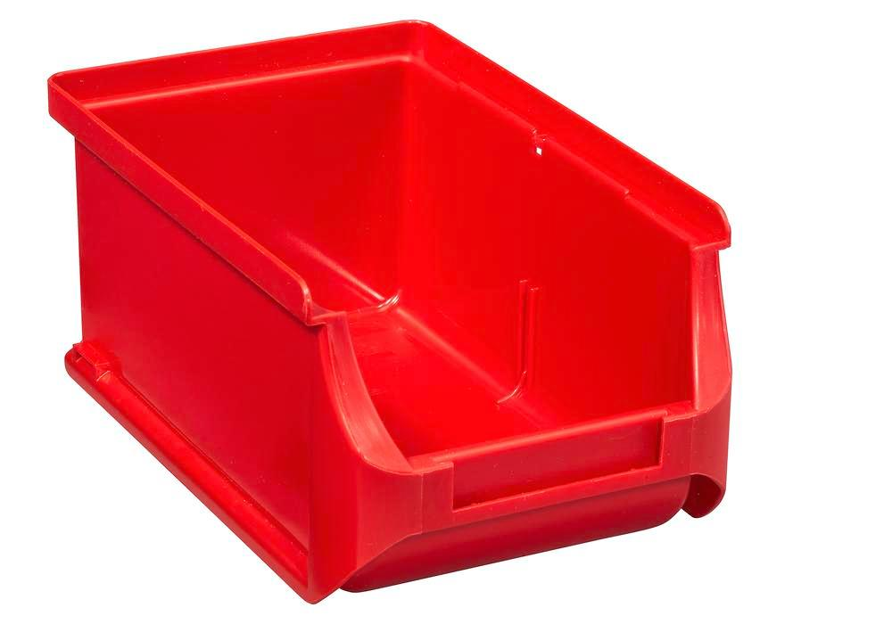 Open-fronted storage bins pro-line A2, PP, 100 x 160 x 75 mm, red, Pack = 24 pcs.
