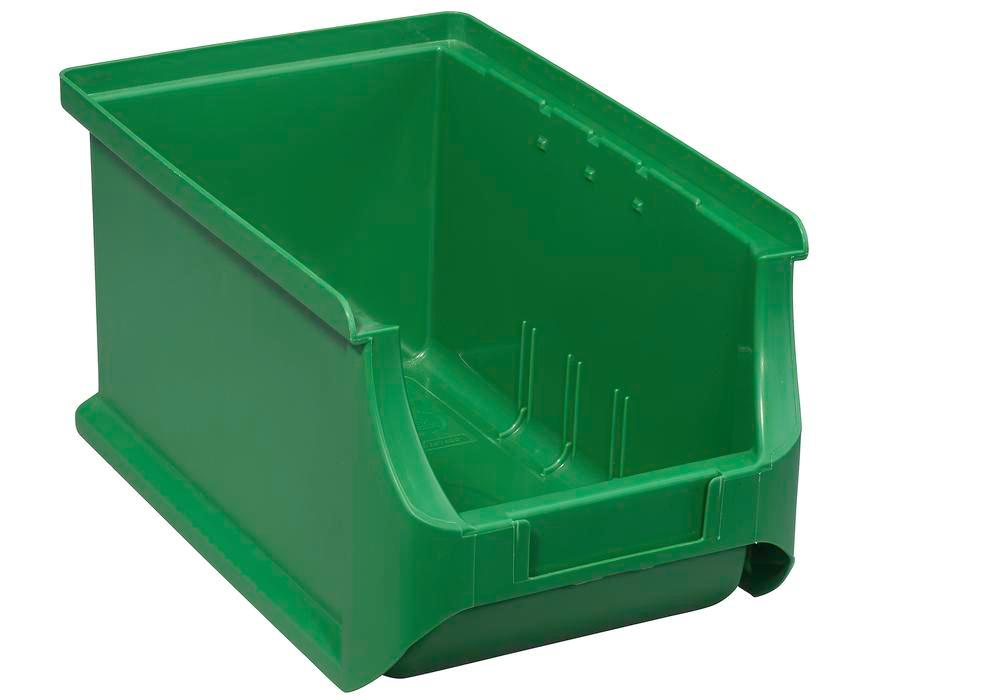Open-fronted storage bins pro-line A3, PP, 150 x 235 x 125 mm, green, Pack = 24 pcs. - 1