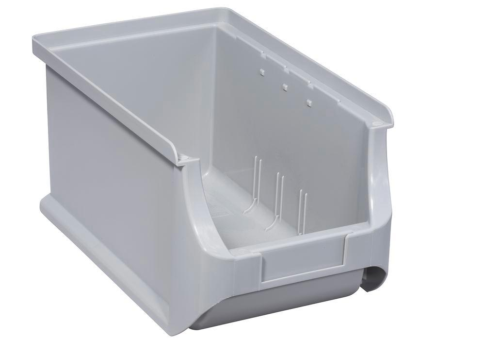 Open-fronted storage bins pro-line A3, PP, 150 x 235 x 125 mm, grey, Pack = 24 pcs.
