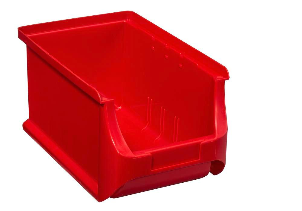 Open-fronted storage bins pro-line A3, PP, 150 x 235 x 125 mm, red, Pack = 24 pcs. - 1