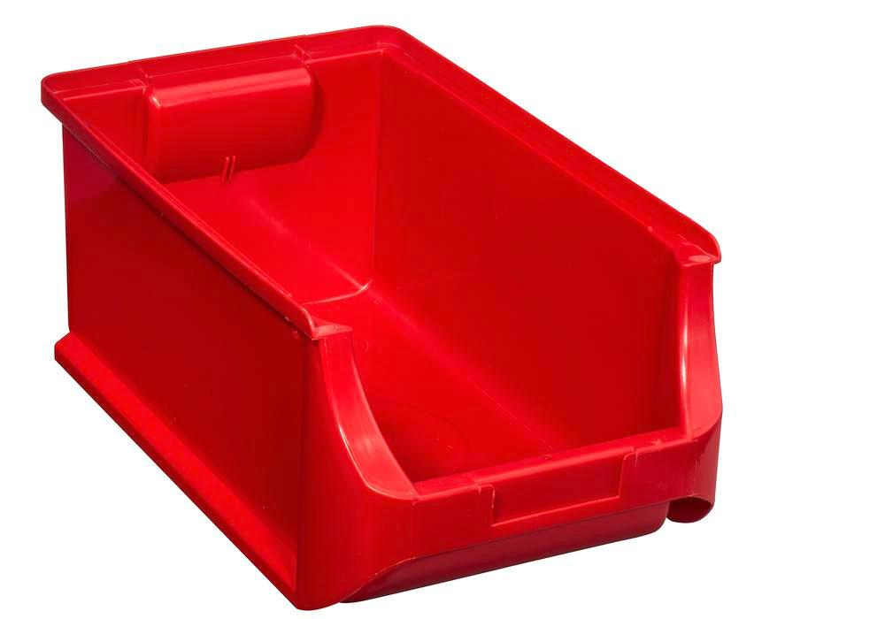 Open-fronted storage bins pro-line A4, PP, 205 x 355 x 150 mm, red, Pack = 12 pcs.