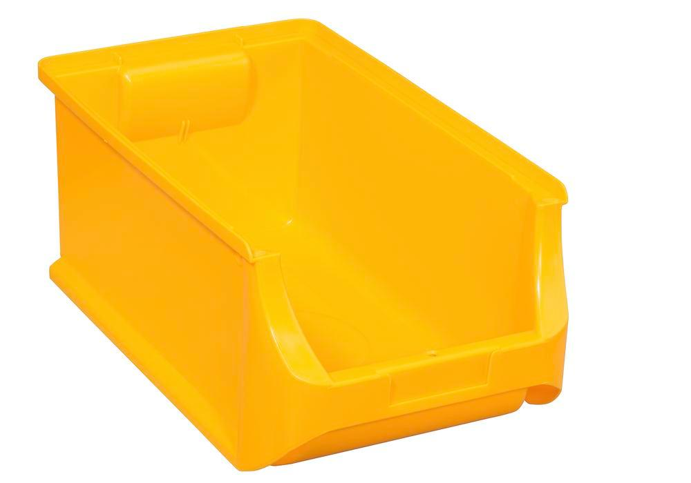 Open-fronted storage bins pro-line A4, PP, 205 x 355 x 150 mm, yellow, Pack = 12 pcs.