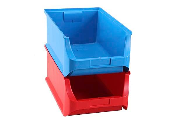 Open-fronted storage bins pro-line A5, PP, 310 x 500 x 200 mm, blue, Pack = 6 pcs.