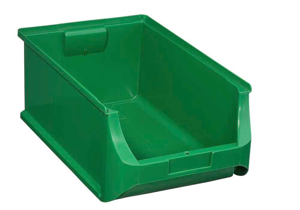 Open-fronted storage bins pro-line A5, PP, 310 x 500 x 200 mm, green, Pack = 6 pcs. - 1