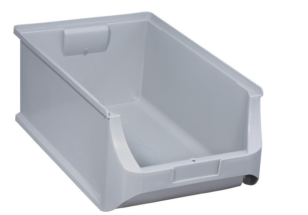 Open-fronted storage bins pro-line A5, PP, 310 x 500 x 200 mm, grey, Pack = 6 pcs. - 1