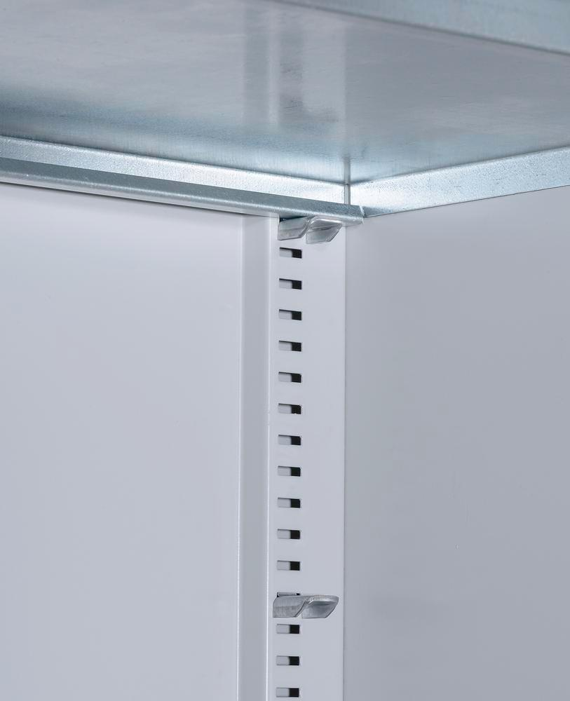 Storage cabinets with 48 open-fronted storage bins pro-line A, 700 x 300 x 1980 mm