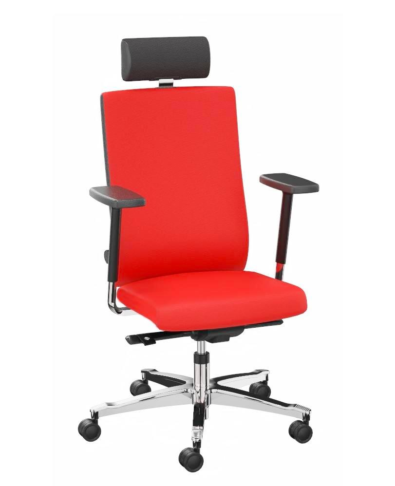 24 hour chair cover fabric red, lumbar support - 1