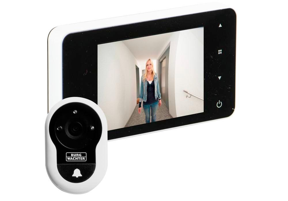 BURG-WÄCHTER door spy eGuard DG 8200 white, with doorbell function, includes batteries