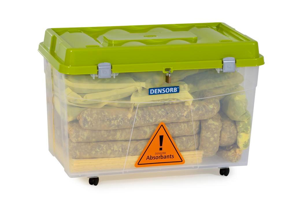 DENSORB Emergency Spill Kit in Transparent Box with castors, application SPECIAL - 3