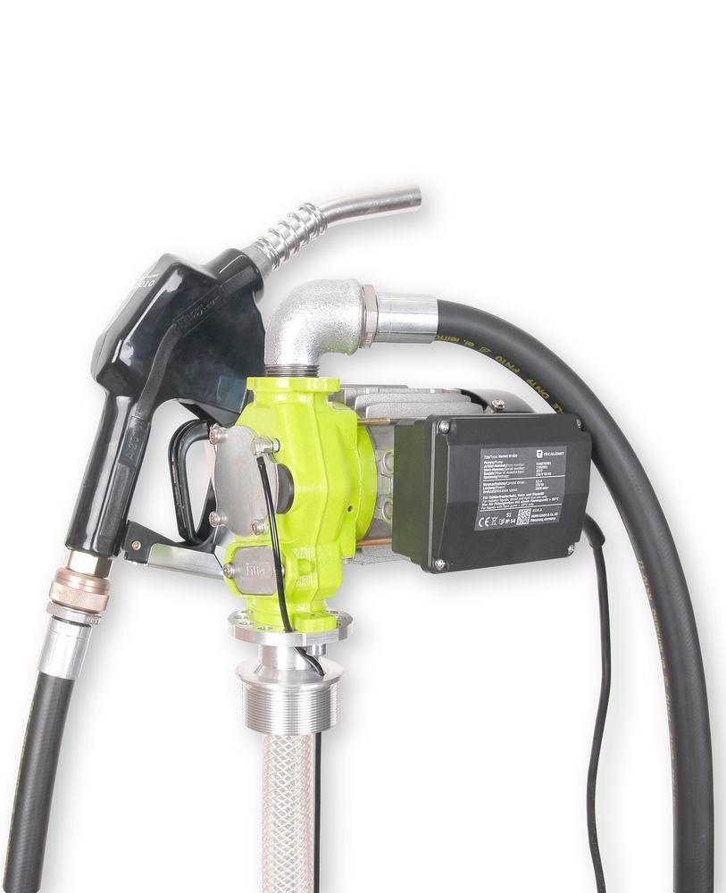 Electric drum pump TP 6, with automatic nozzle, 1600 mm immersion depth