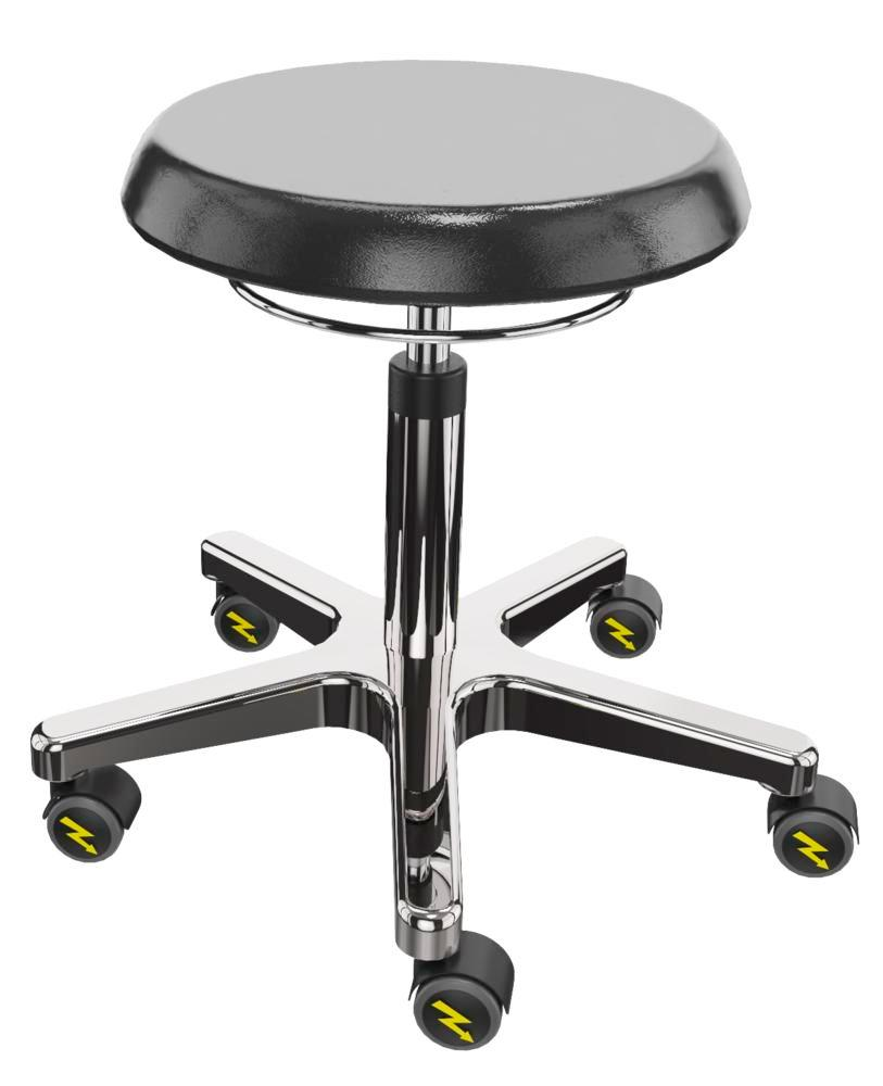 ESD work stool PU, aluminium base
