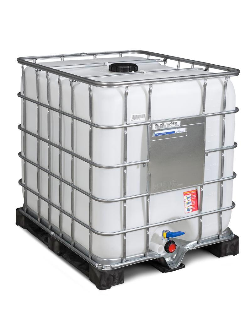 IBC container, PE pallet, 1000 litre, NW150 opening, NW50 drain - 1