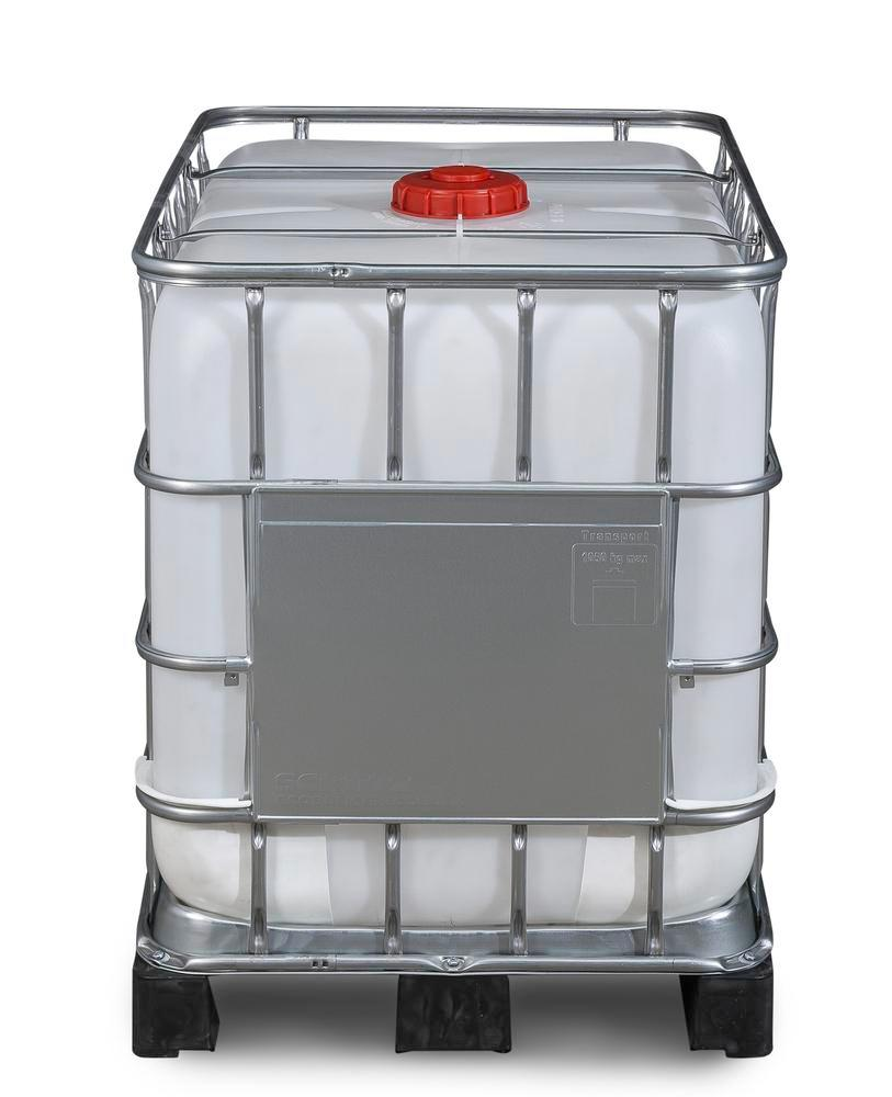 IBC container, PE pallet, 600 litre, NW150 opening, NW50 drain