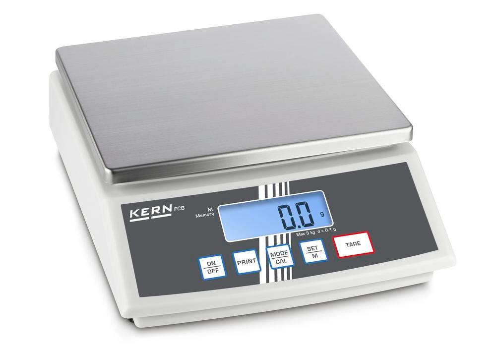KERN bench scale FCB, second display on the rear, up to 30 kg, d = 1.0 g