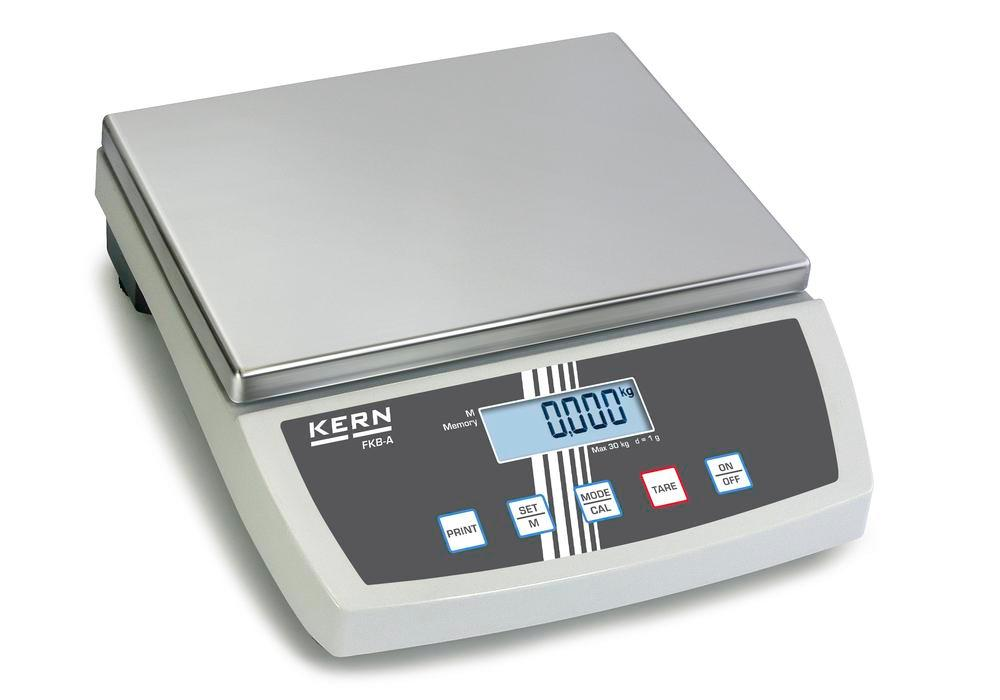 KERN bench scale FKB, up to 30 kg, d = 1.0 g