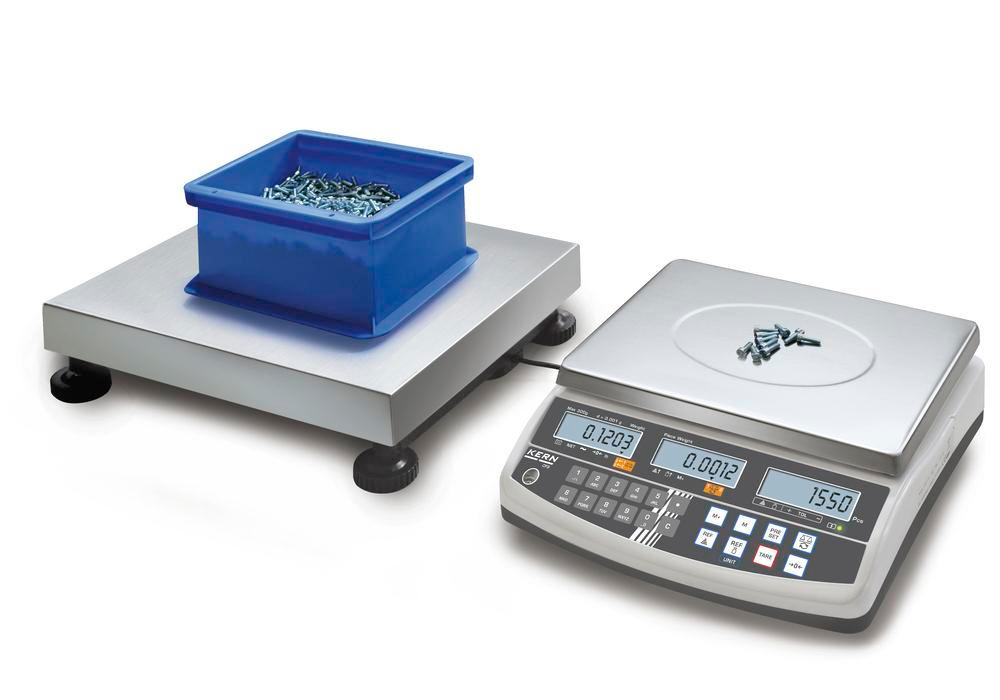 KERN counting scale CCS, up to 1.5 t, min. part weight 1.0 g/unit, weighing plate 1000 x 1000 mm