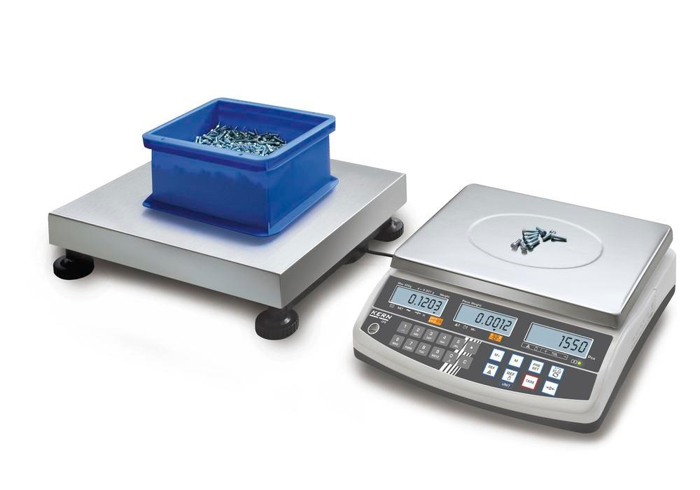 KERN counting scale CCS, up to 1.5 t, min. part weight 1.0 g/unit, weighing plate 840 x 1300 mm