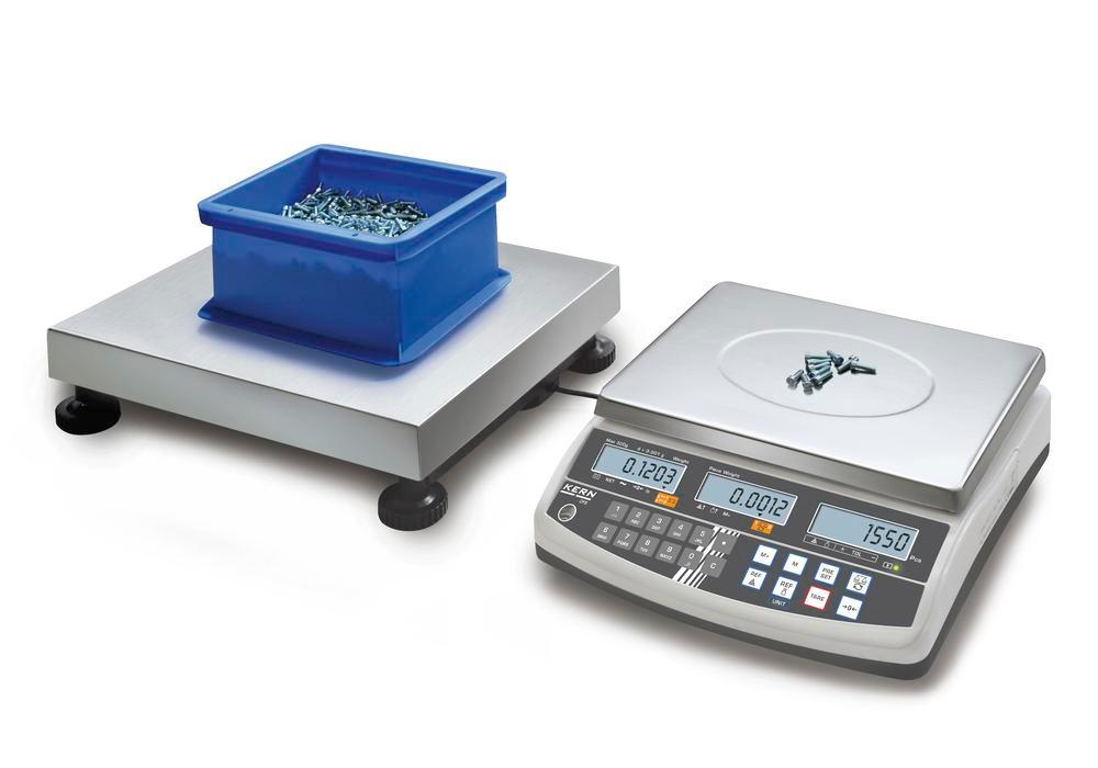 KERN counting scale CCS, up to 150 kg, min. part weight 0.5 g/unit, weighing plate 650 x 500 mm