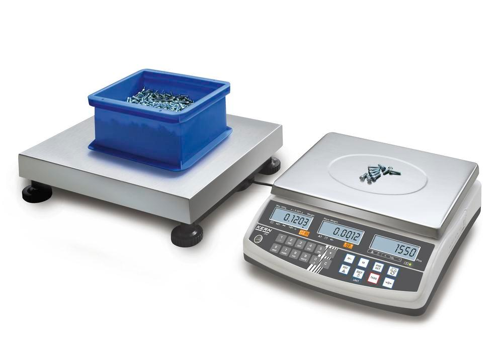 KERN counting scale CCS, up to 300 kg, min. part weight 0.5 g/unit, weighing plate 650 x 500 mm - 1